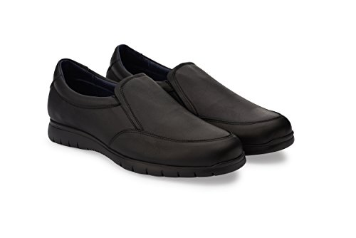Oneflex Axel Negro - Zapatos cómodos de Hombre livianos y Antideslizantes