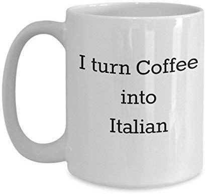 Ik zet koffie in het Italiaans - Italiano Vertaler Taal Student Lover Expert Learner - Witte Keramische Novelty Koffiemokken 11 Oz Kerstmis Moeders Dag voor Moeder Man Vrouwen Cup