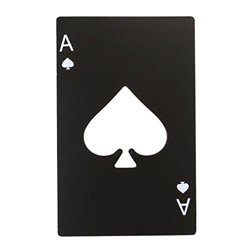 Mogoko Apribottiglie Set in Acciaio Inox Cavatappi Birra Bibite con Design Speciale e Divertente - Poker/Nero