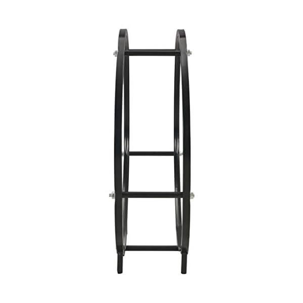 Festnight Soporte para Leña Firewood Rack Leñero de Acero Negro 70x20x70 cm