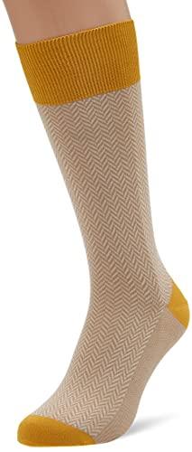 Hackett London Mens HRINGBNE CNT SHRT Socks, 951TAUPE, ML