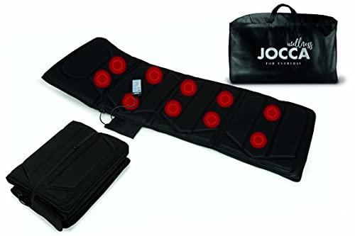 Jocca - Colchón masajeador plegable | Colchoneta de masaje eléctrica 4 zonas| Colchón de masaje 10 motores | Intensidad Ajustable