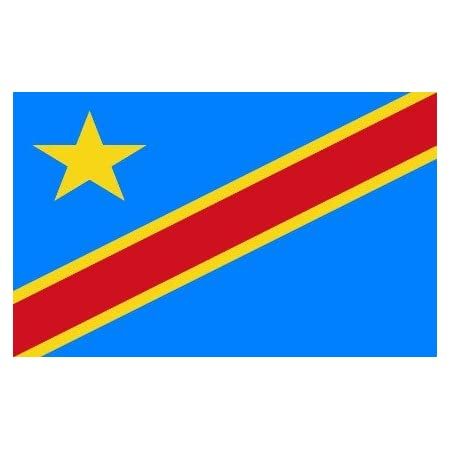 Bandera De La República Democrática Del Congo Poliéster 3 Pies X 5 Pies Jardín Y Exteriores