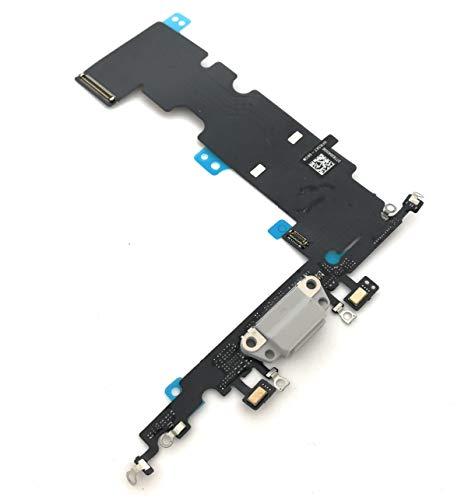 enoaFIX dock connector compatibel met iPhone 8 Plus oplaadbus met microfoon en antenne in wit/zilver