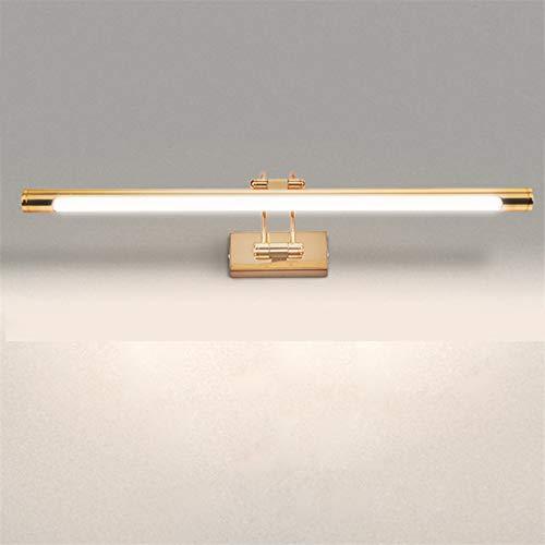 Bad Spiegellampe LED Spiegelleuchte Badezimmer Wandlampe Aluminium Wasserdicht Schranklicht Toilette Schminklicht Für Badezimmer, Schlafzimmer, Schrank,Gold 68cm