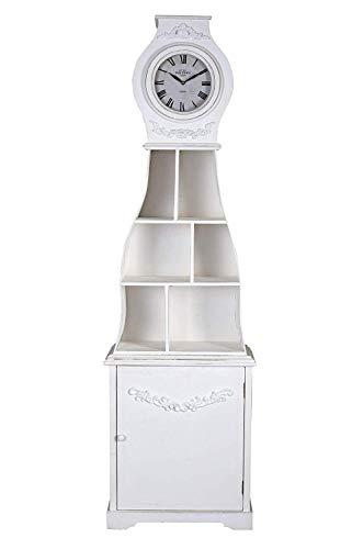 Grossuhr Standuhr Mora Uhr Weiss Dekouhr Antik Regal Uhrenschrank Landhaus 183cm mxa085 Palazzo Exklusiv