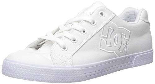 DC Women's Chelsea TX Skate Shoe, White, 9 M US