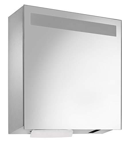 Wagner Ewar WP650e Spiegelschrank inkl. Sensor- Seifen- und Handtuchspender Edelstahl