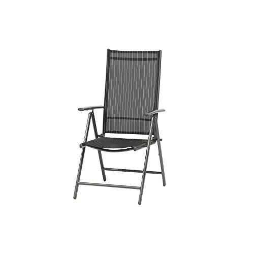 MWH Sparset 6x Siena Garden Klappsessel Klappstuhl Delphi silber/schwarz 650x560x1070 mm