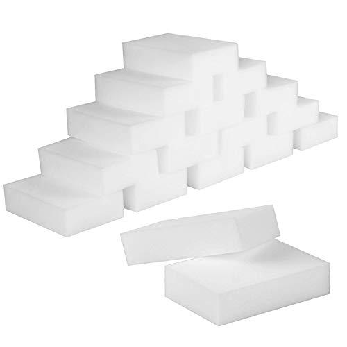 STARVAST Magic Cleaning Sponge, Pack of 50 Magic Eraser Sponges Melamine Foam Cleaning Pad - Eraser Sponge for All Surface – Bathroom, Kitchen, Floor, Baseboard, Wall Cleaner (Chemical Free)