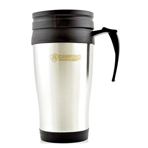 COOLMP - Lot de 3 - Mug Thermos de Voyage 16,5cm Acier brossé