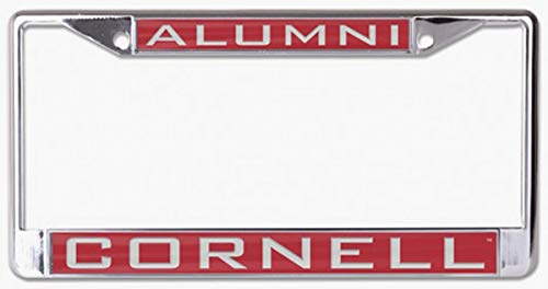 WinCraft Cornell Univeristy Big Red Alumni License Plate Frame, Metal with Inlaid Acrylic, 2 Mount Holes