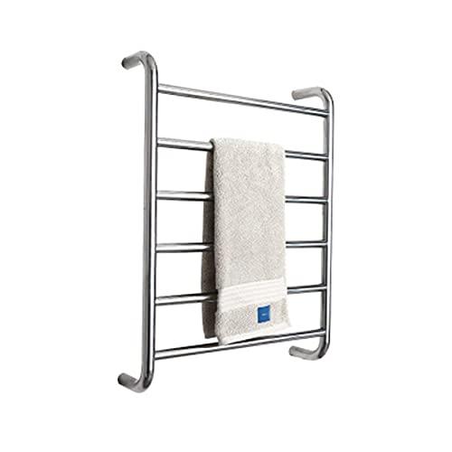 Toallero de secado, montaje en pared calentado para baño, calentador de toallas de acero inoxidable, termostato integrado rápido, calentador de toallas independiente, enchufe