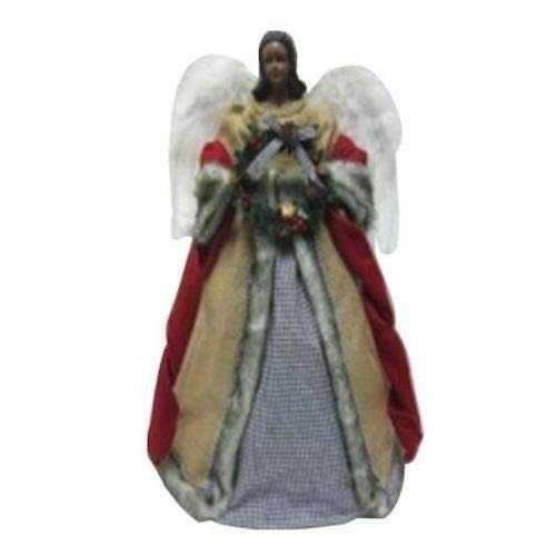 18 in. Tabletop or Tree Topper Angel with Burlap Gown
