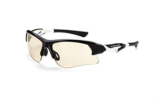 Icecube Photochrome Sonnenbrille TRIDENT/Superleichte selbsttönende Sportbrille aus Hightech-Material/Mit Etui und Microfaserbeutel F6271066