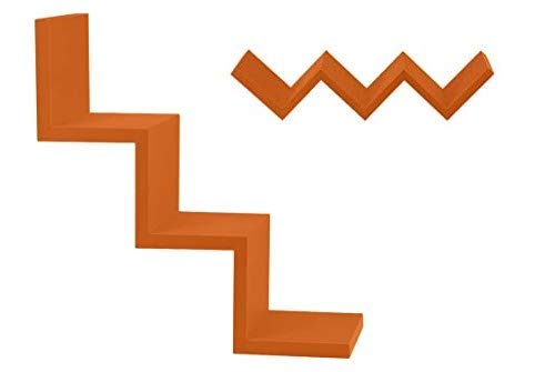 GICOS IMPORT EXPORT SRL Mensola da Parete scaletta pensile scaffale in Legno MDF da Muro Colore Arancione 59 * 12 * 12 cm tasselli Inclusi DOU-789472