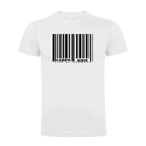 Docliick Camiseta Original Manga Corta con Frases motivadoras Carpe Diem.Camiseta Divertida.Regalo Original DCC-18001 (M)