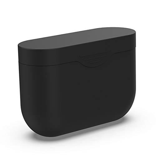 Lokeke, custodia protettiva in morbido silicone per Sony WF-1000XM3, custodia protettiva per cuffie con cancellazione del rumore senza fili (silicone nero)