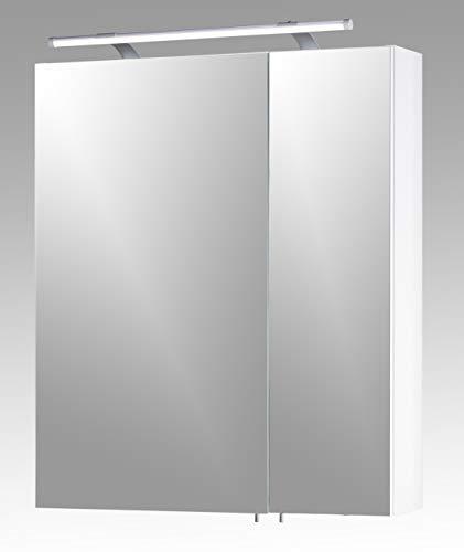 Schildmeyer Spiegelschrank, weiß Glanz, 60 x 75 x 16 cm