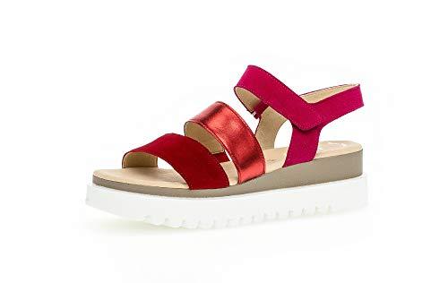 Gabor Mujer Sandalias de Vestir, señora Sandalia de la Plataforma,Zapatos de Verano,cómoda Suela,Suela Gruesa,Rubin/Rosso/Fuxia,40.5 EU / 7 UK