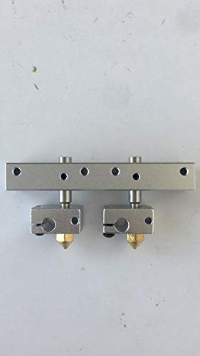 2 hot Ends and 1 Mount Block for BIBO 3D Printer (Version B)
