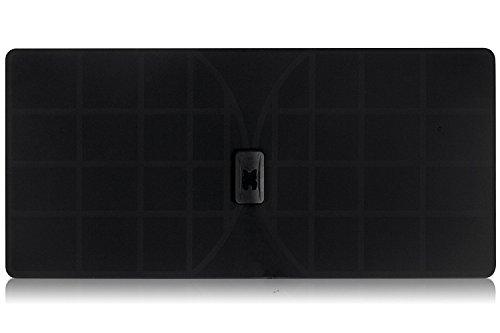 RGTech Monarch 50 Noire Antenne Numérique Intérieure HDTV TNT - Réception du Signal multidirectionnelle à 50 Miles de Distance - 4G Filtre de Reception Maximum/UHF/VHF/FM/USB Tuner/TV DVB-T/Dab Radio