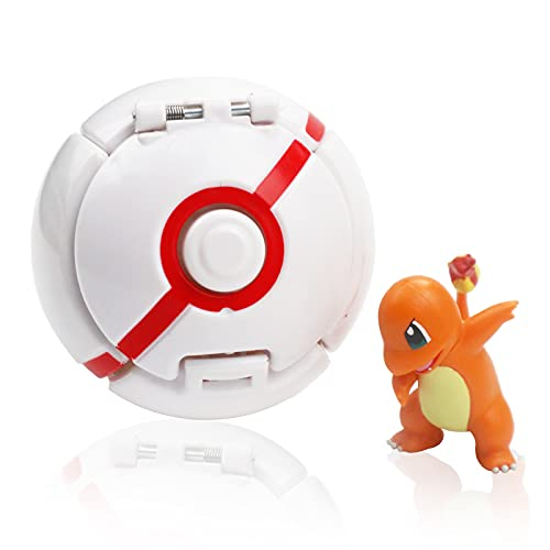 Poke Ball, Pokeball Pokemon, Figurina Poke Ball, Throw Pokemon PokéBall, Kid Toys Plastic Anime Pokeball Figure per Bambini e Adulti Festa Giocattolo Regalo (C)
