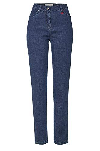 Relaxed by Toni Damen Bequeme Jeans »Belmonte« mit seitlichem Gummizug 46K Denim