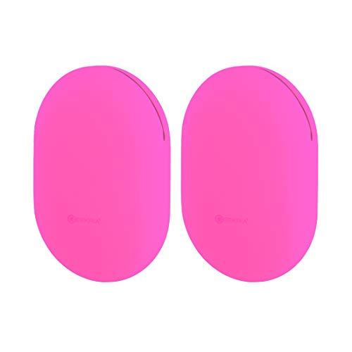 Geekria - Funda universal de silicona para auriculares (2 unidades), color rojo rosa