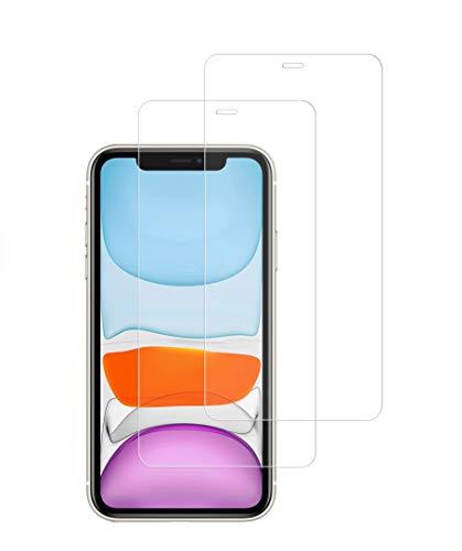 "TECHKUN [2 Unidades] Protector de Pantalla para iPhone 11pro /Xs /X (5.8""),Cristal Templado iPhone 11pro /Xs /X, Transparente,Antiarañazos, Antihuellas, Sin Burbujas, Dureza 9H"