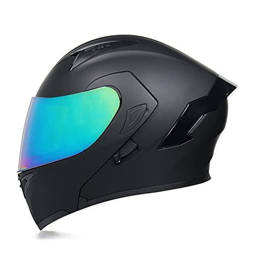Smilfree Integrado Integral Casco Modular Casco De Motocicleta con CertificacióN Dot/ECE De Cara Completa Casco De Seguridad para Hombres Y Mujeres Casco Integral Moto (57~64 Cm)
