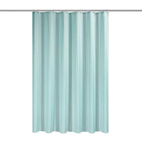 Duschvorhang, Stoff, dunkelgrau, 180cm x 200cm,lichtgrün,Enthält nicht 12 Haken