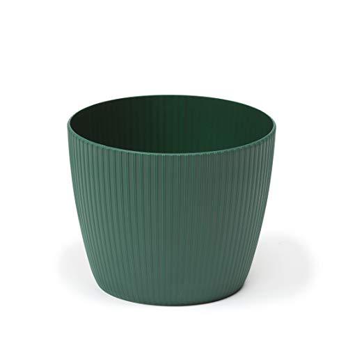 SimplyTheBest Pot de fleurs pour plantes aromatiques Magnolia Jumper | Ø 14 cm | Support pour rebord de fenêtre, balcon, jardin | Boîte de rangement | Mélange Match! Play! avocado