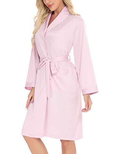 Aibrou Albornoz Seda Mujer Batas Pijama de Satén Elegante