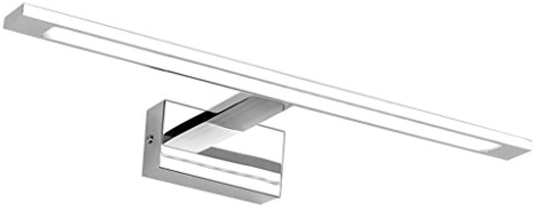 DFHHG  LED-Spiegel-Frontleuchte, Badezimmer Spiegelschrank Spiegel Lampe Bad Make-up Kommode Toilette WC Spiegel Lampe lang 48 58 68 78 cm (Farbe   Warmwei-Long58cm)