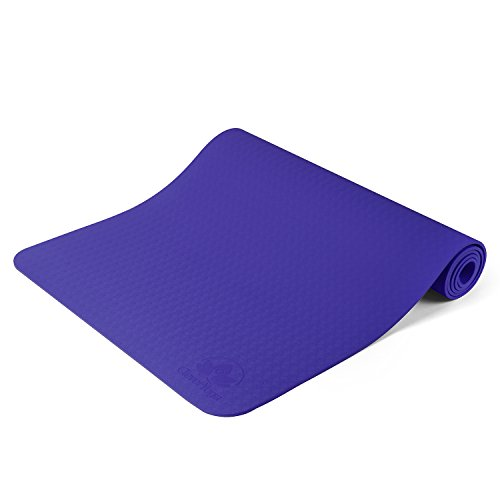 Clever Yoga Mat For Meditation Yoga Non Slip - Longer And Wider Than Other Exercise Mats For Beginners And Kids...