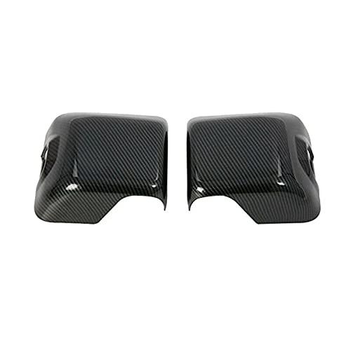 ATMASDO Tapas de la cubierta del espejo del ala lateral Cubierta de la caja del espejo retrovisor, para Jeep Wrangler JL Gladiator JT 2018+