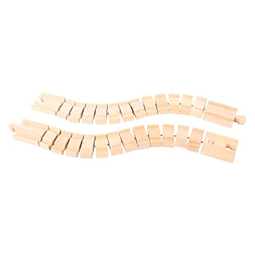 Bigjigs Rail Rails excentriques (Lot de 2)