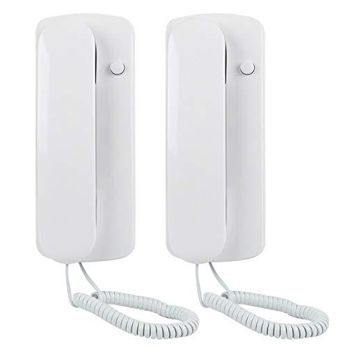 Pwshymi Interfono de Audio Intercomunicador Portero automático, para Mayor Comodidad, para Ahorro de energía
