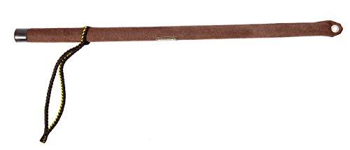 DINGO GEAR S02623 Hundetraining Stick für Gehorsamkeitstraining, braunes Wildleder, Peitsche und Stab für den Mut Test, handgefertigt