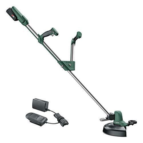 Bosch Akku Rasentrimmer UniversalGrassCut 18-260 (1x Akku 2,0 Ah, 18 Volt System, Schnittkreisdurchmesser: 26 cm, verstellbare Handgriffe, im Karton)