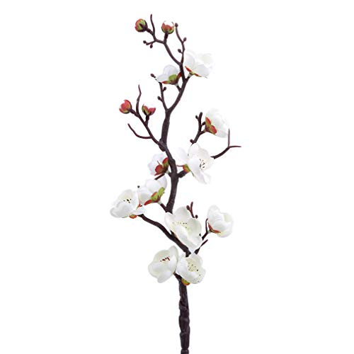 unknow AOYEZI Artificial Plum Blossom Floral Arrangements for Home Wedding Home Festival Party Yard Decoration,White