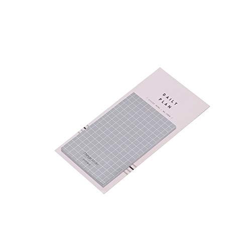 Estudiantes y suministros de oficina MMGZ plan diario la Lista de tareas semanal mensual nota de la libreta portátil cuaderno de viaje libro Diario de escritorio de regalo (Beige) La alta calidad