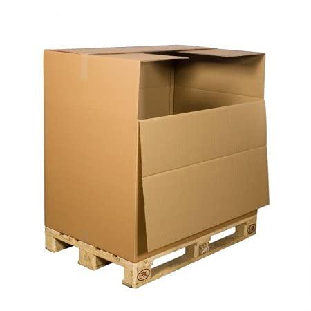 BB-Verpackungen 1 x Faltkartons 1180 x 780 x 1070 mm (2-wellig, Palettenkarton für schwere Gegenstände, Ladeklappe bei 750 mm Höhe) - Sets zwischen 1 und 100 Stück