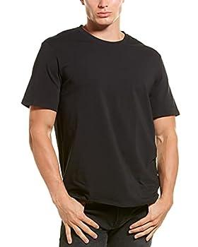Ted Baker mens Crewneck Stretch Cotton Tshirts 3 Pack Base Layer Top Black/Black/Black Medium US