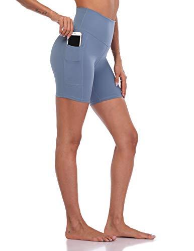 Colorfulkoala Women's High Waisted Biker Shorts with Pockets...