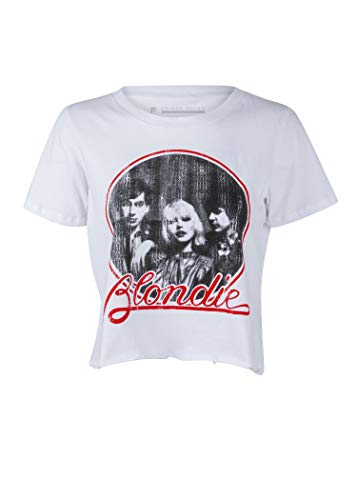 Womens White Distressed Blondie 70s T-shirt, Small