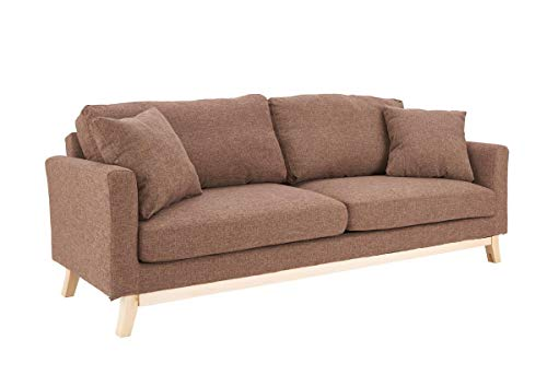 Unbekannt SalesFever Sofa Schlafsofa 216x88x77 cm braun, Stoff Strukturstoff, Massivholz L = 216 x B = 88 x H = 87 braun
