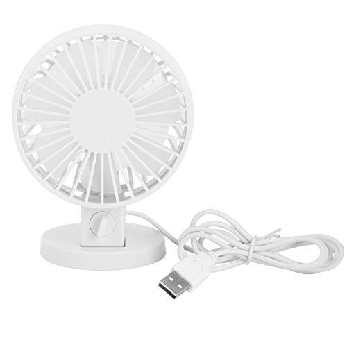 Omabeta Ventilador silencioso Fuente de alimentación USB Ventilador portátil ABS para uso en el dormitorio (blanco)