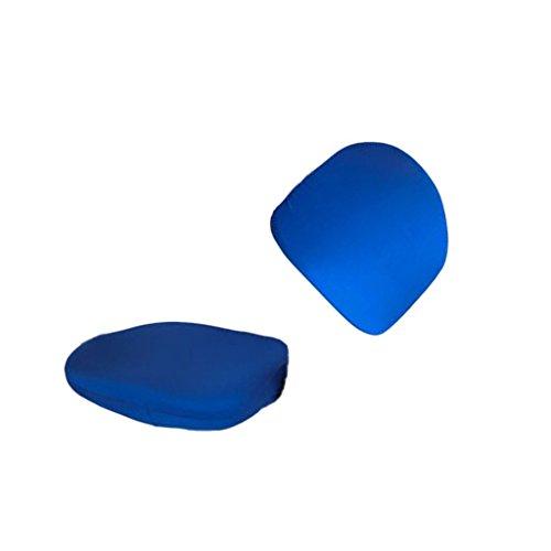 OEM SYSTEMS 2 pièce Protecteur de Couverture Coque de Protection Chaise Housses Housses élastique pour siège pivotant Bleu